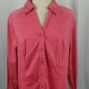 Lane Bryant Button Front Top Pink Plus Size 20